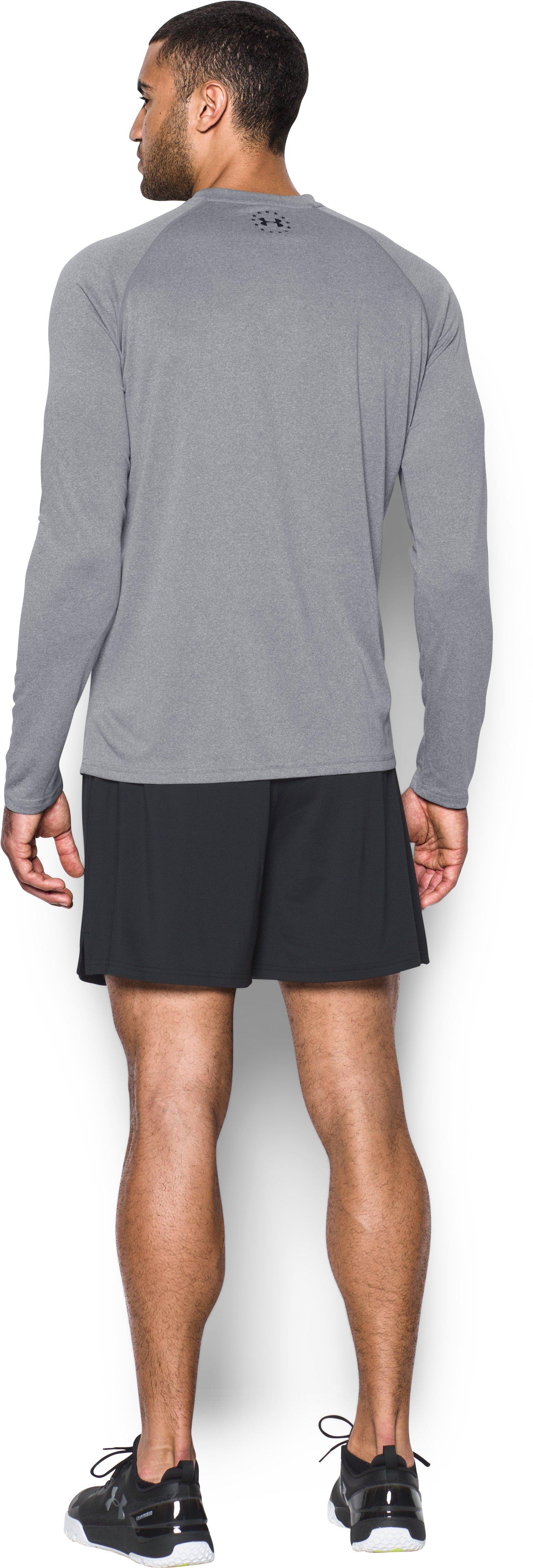 Men's UA Tech™ WWP Long Sleeve T-Shirt, True Gray Heather, Back