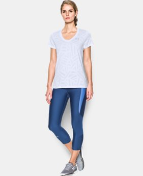 Women's UA Tech™ V-Neck - Jacquard LIMITED TIME: FREE U.S. SHIPPING 1 Color $22.99