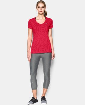 Women's UA Tech™ V-Neck - Jacquard