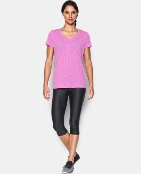 Women's UA Tech™ V-Neck - Jacquard LIMITED TIME: FREE SHIPPING 1 Color $34.99