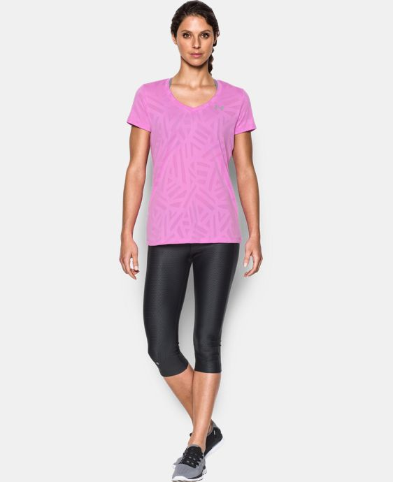 New Arrival  Women's UA Tech™ V-Neck - Jacquard  1 Color $22.99