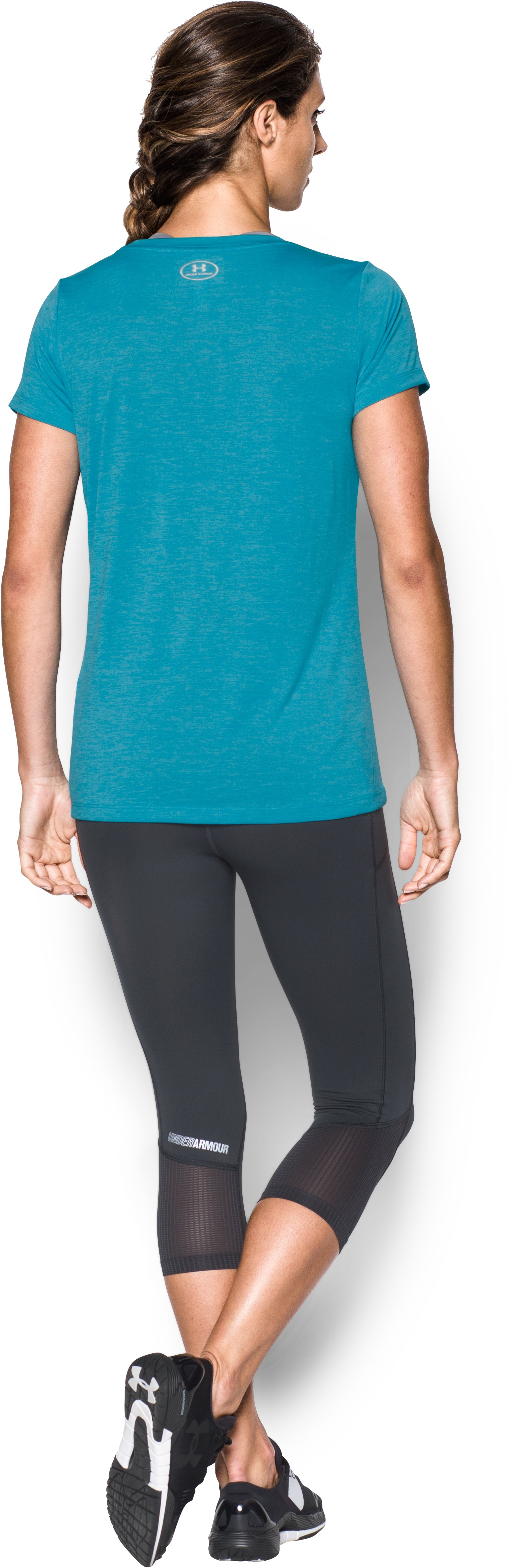 Women's UA Tech™ Crew T-Shirt, Deceit, Back