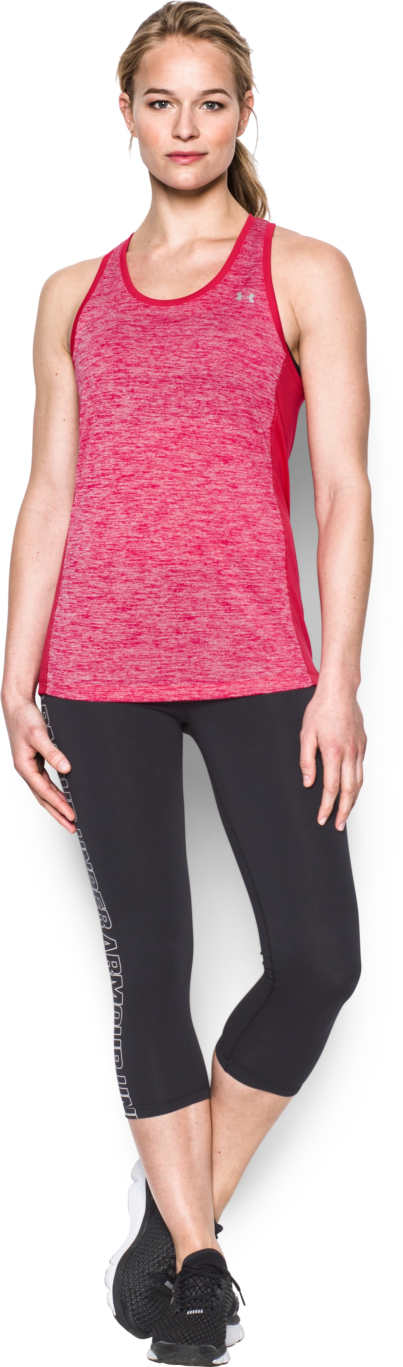 Women's UA Tech™ Tank - Color Block, KNOCK OUT, Front