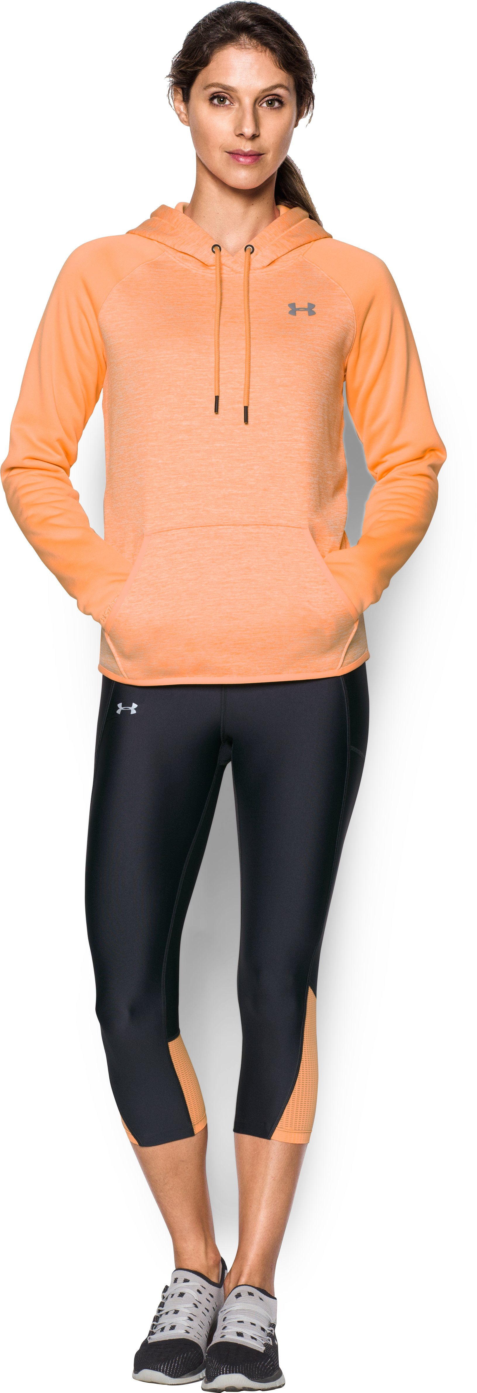Women's  UA Storm Armour Fleece® Logo Twist Hoodie, Afterglow, Front