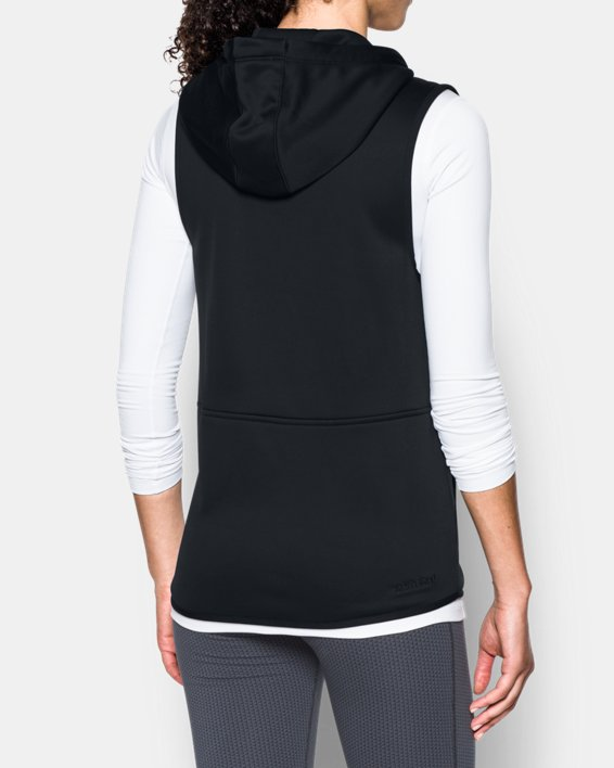 Women's  UA Storm Lightweight Armour Fleece® Vest, Black, pdpMainDesktop image number 2