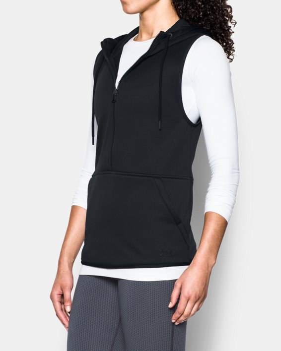 Women's  UA Storm Lightweight Armour Fleece® Vest, Black, pdpMainDesktop image number 1