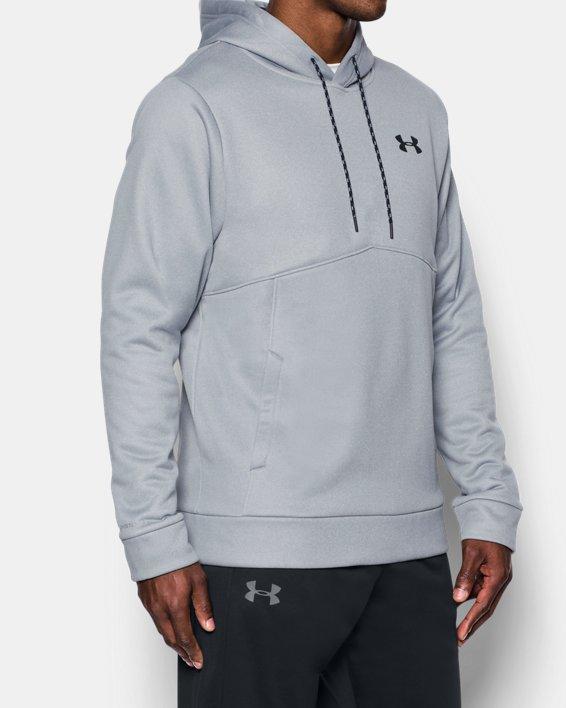 Men's UA Storm Armour Fleece® Hoodie, Gray, pdpMainDesktop image number 1