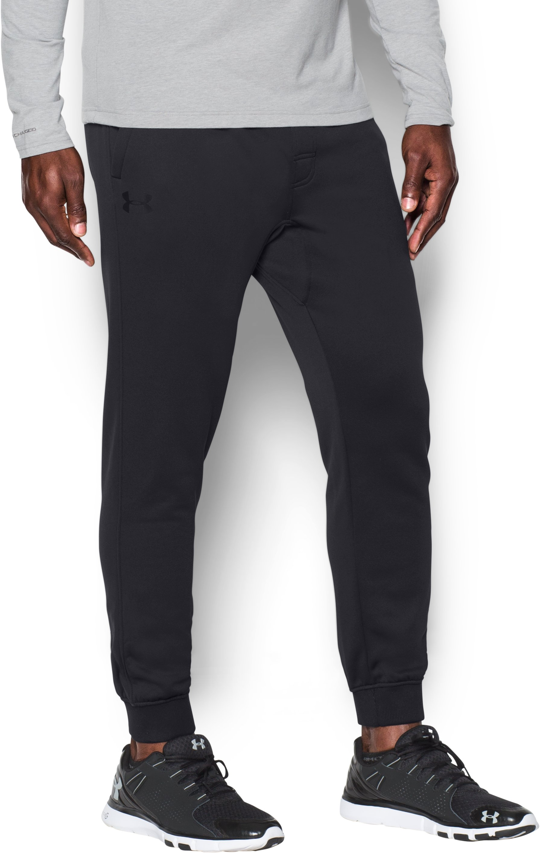Men's UA Storm Armour® Fleece Joggers, Black , zoomed image
