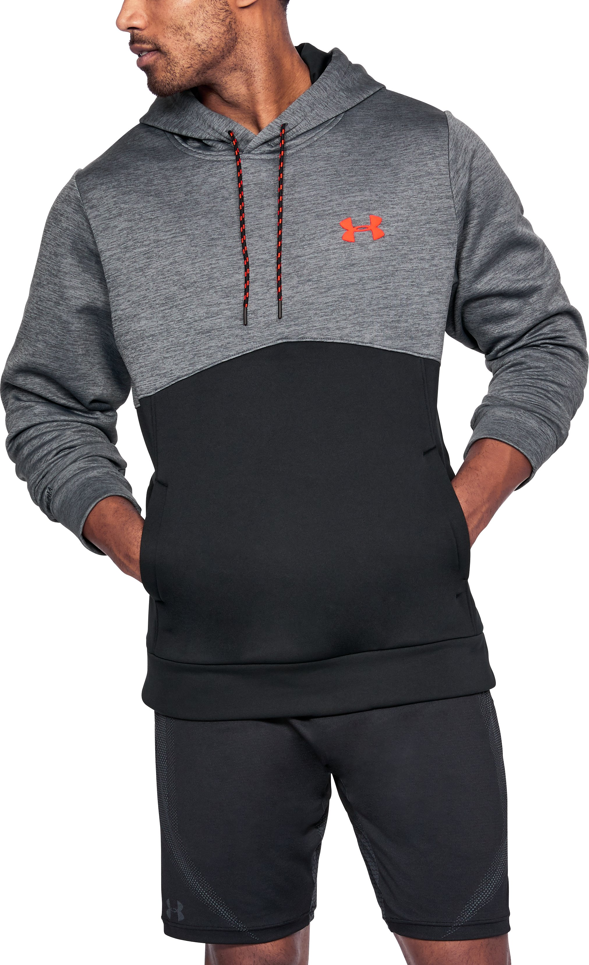 Men's UA Storm Armour® Fleece Twist Hoodie, RHINO GRAY