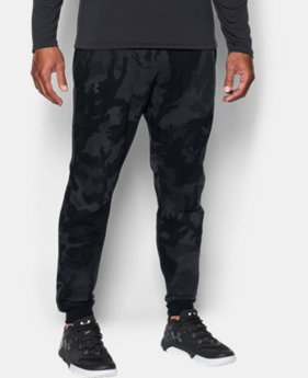 Men's UA Rival Fleece Patterned Joggers  1 Color $25.31 to $33.74