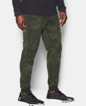Men's UA Rival Fleece Patterned Joggers   $69.99