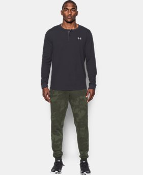 Men's UA Rival Fleece Patterned Joggers  1 Color $52.99 to $69.99