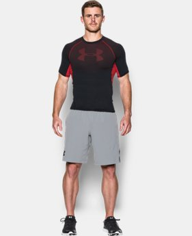 New Arrival  Men's UA HeatGear® Armour Printed Short Sleeve Compression Shirt    $39.99
