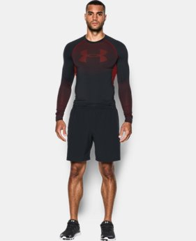 Men's UA HeatGear® Armour Printed Long Sleeve Compression Shirt   4 Colors $39.99