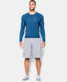 Men's UA HeatGear® Armour Printed Long Sleeve Compression Shirt   4 Colors $44.99