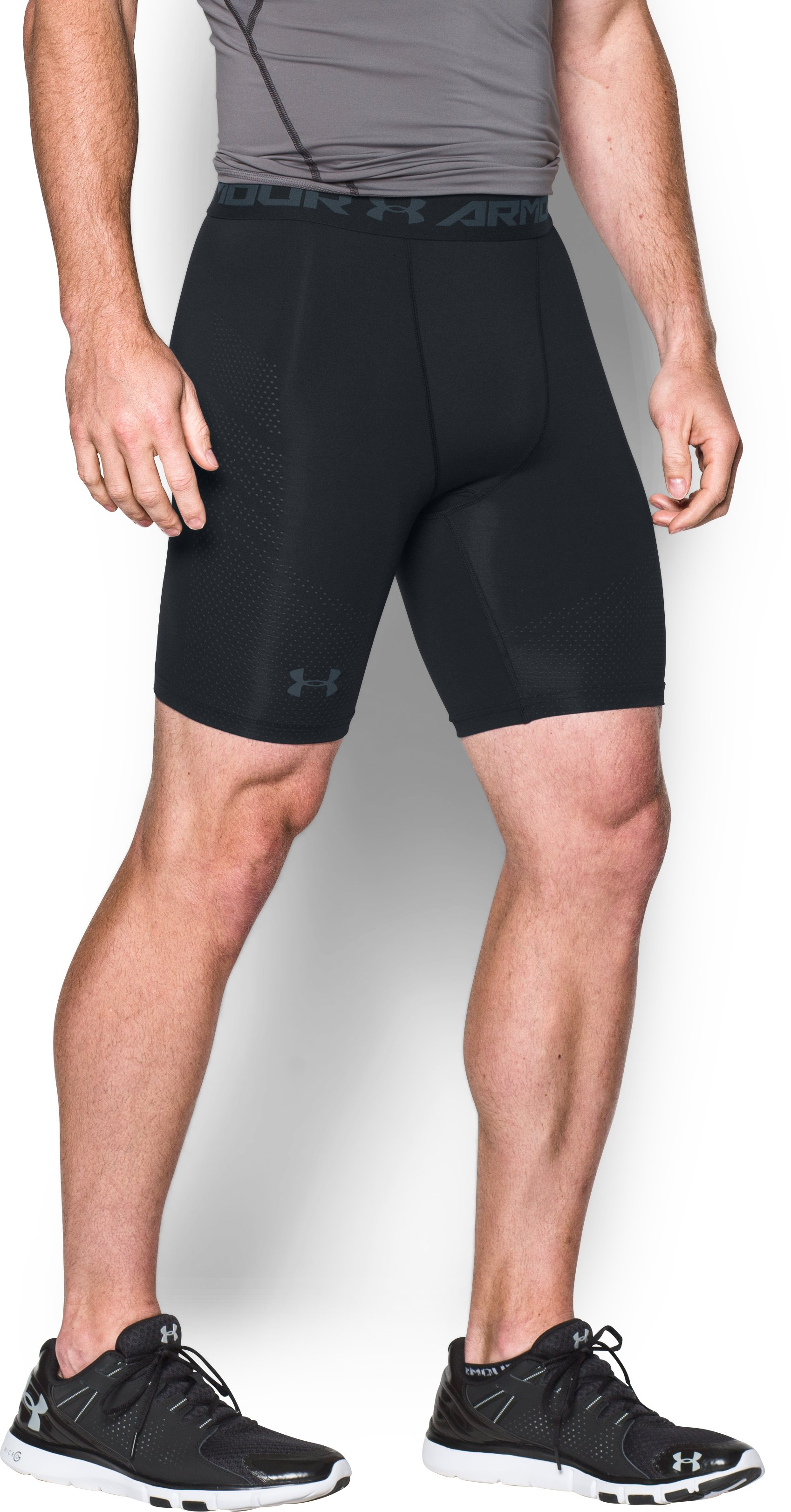 Men's UA HeatGear® Armour Printed Compression Shorts, Black