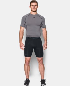 New Arrival  Men's UA HeatGear® Armour Printed Compression Shorts LIMITED TIME: FREE SHIPPING 1 Color $34.99