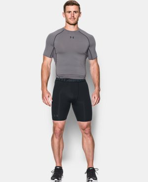 Men's UA HeatGear® Armour Printed Compression Shorts  1 Color $26.99