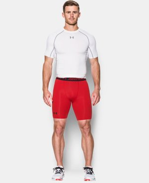 Men's UA HeatGear® Armour Printed Compression Shorts   $29.99