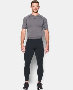 New Arrival  Men's UA HeatGear® Armour Printed Compression Leggings  1 Color $49.99