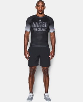 New Arrival Men's UA Freedom HeatGear® Armour Compression Shirt  1 Color $44.99