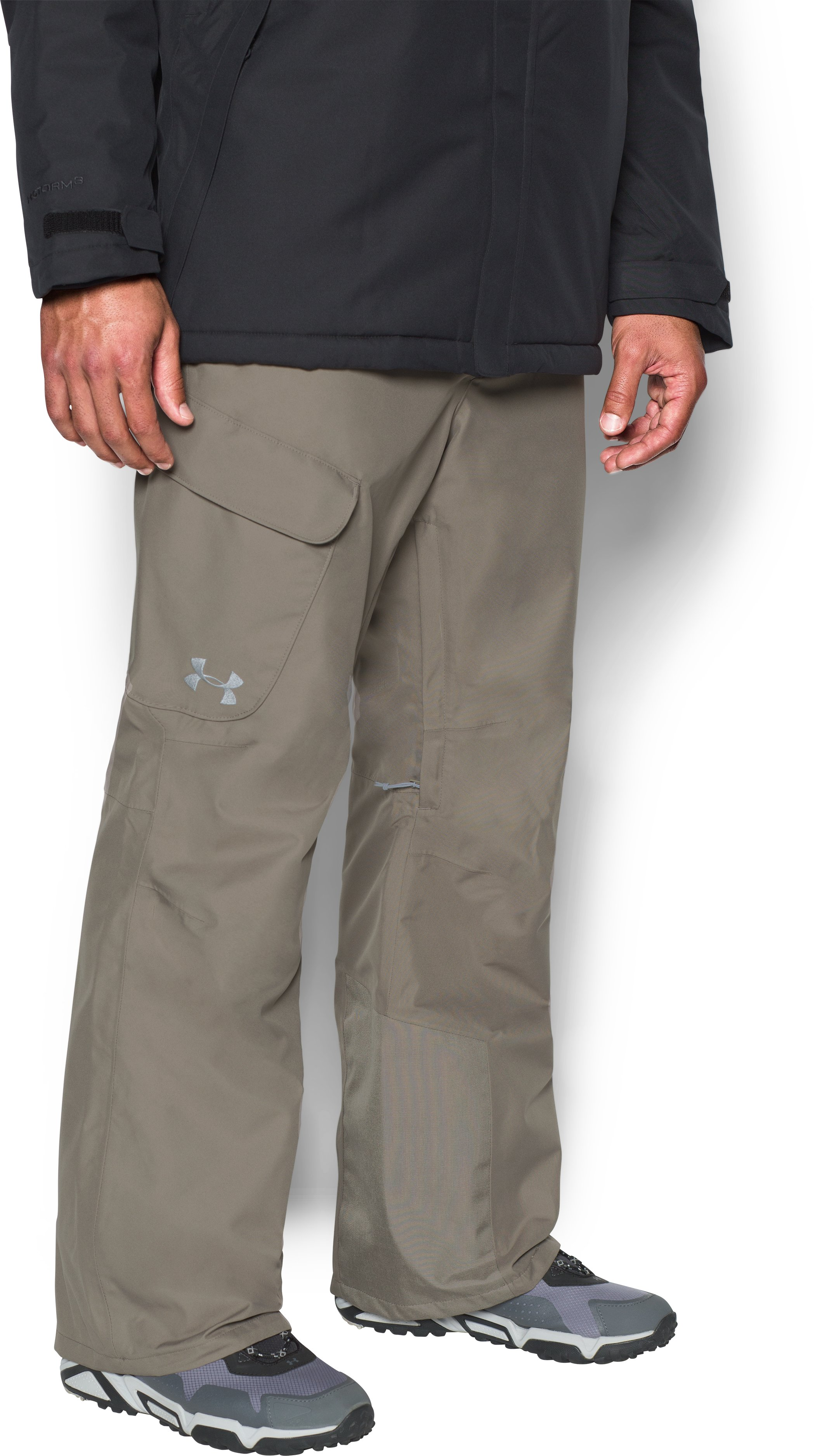 Men's UA Storm Chutes Shell Pants, STONELEIGH TAUPE