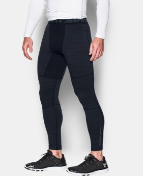 Men's UA ColdGear® Armour Twist Compression Leggings LIMITED TIME OFFER 1 Color $41.99