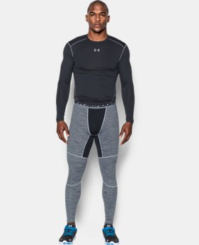 New Arrival  Men's UA ColdGear® Armour Twist Compression Leggings   $69.99