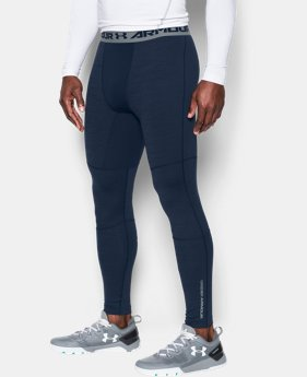 Men's UA ColdGear® Armour Twist Compression Leggings LIMITED TIME: FREE U.S. SHIPPING 2 Colors $44.99