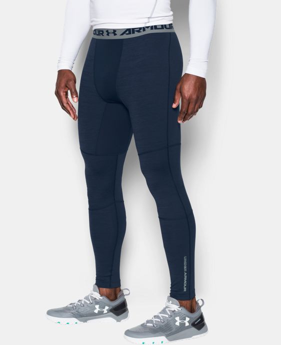 Men's UA ColdGear® Armour Twist Compression Leggings LIMITED TIME OFFER + FREE U.S. SHIPPING 4 Colors $44.99 to $59.99