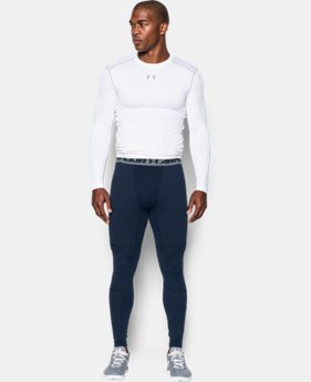 New Arrival  Men's UA ColdGear® Armour Twist Compression Leggings  1 Color $69.99
