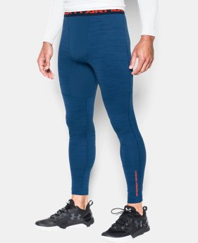 Men's UA ColdGear® Armour Twist Compression Leggings LIMITED TIME: FREE SHIPPING 1 Color $52.49