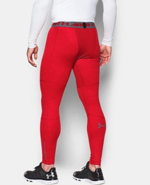 Men's UA ColdGear® Armour Twist Compression Leggings LIMITED TIME OFFER + FREE U.S. SHIPPING 1 Color $44.99