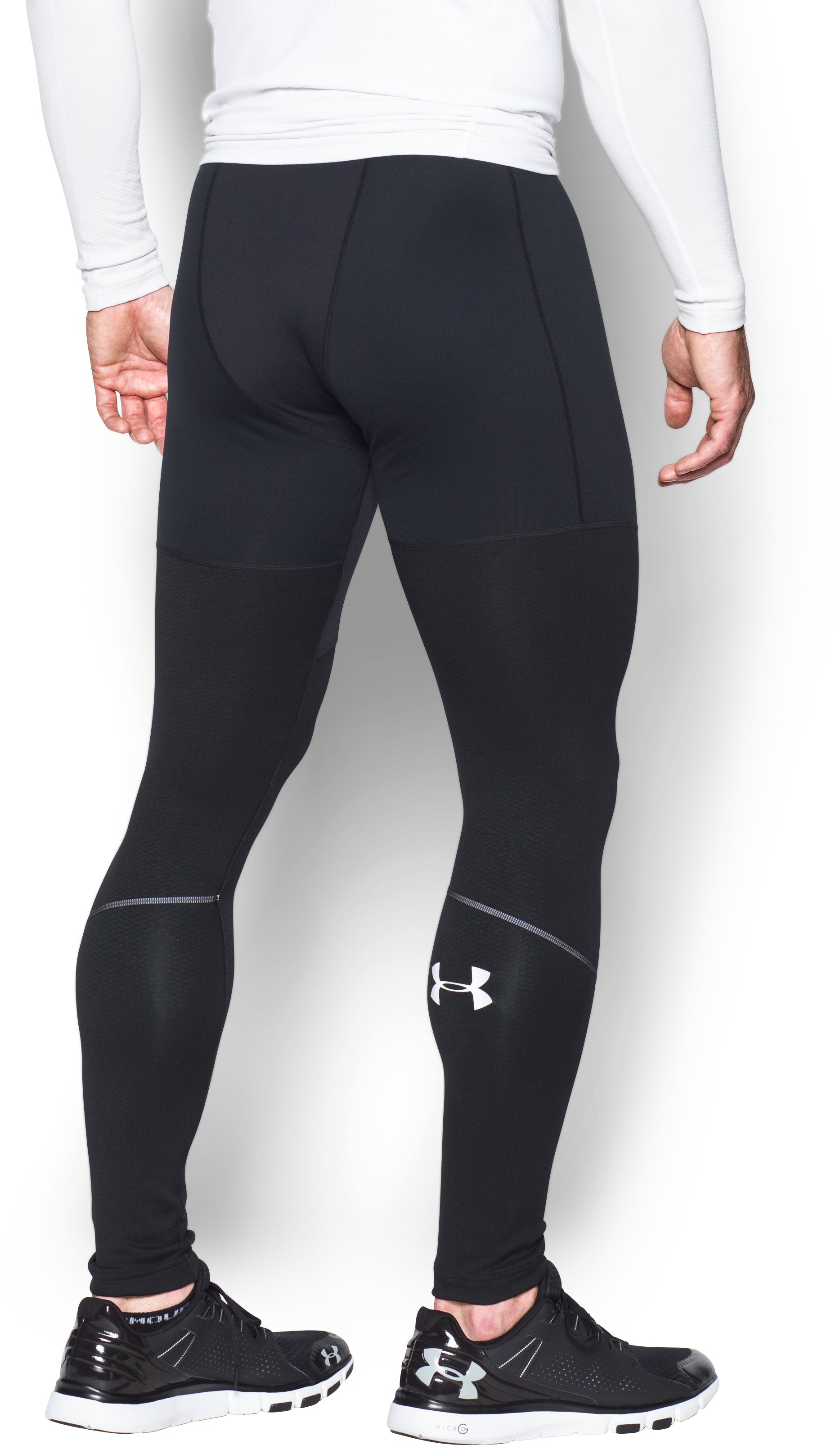 Men's UA ColdGear® Armour Leggings, Black ,