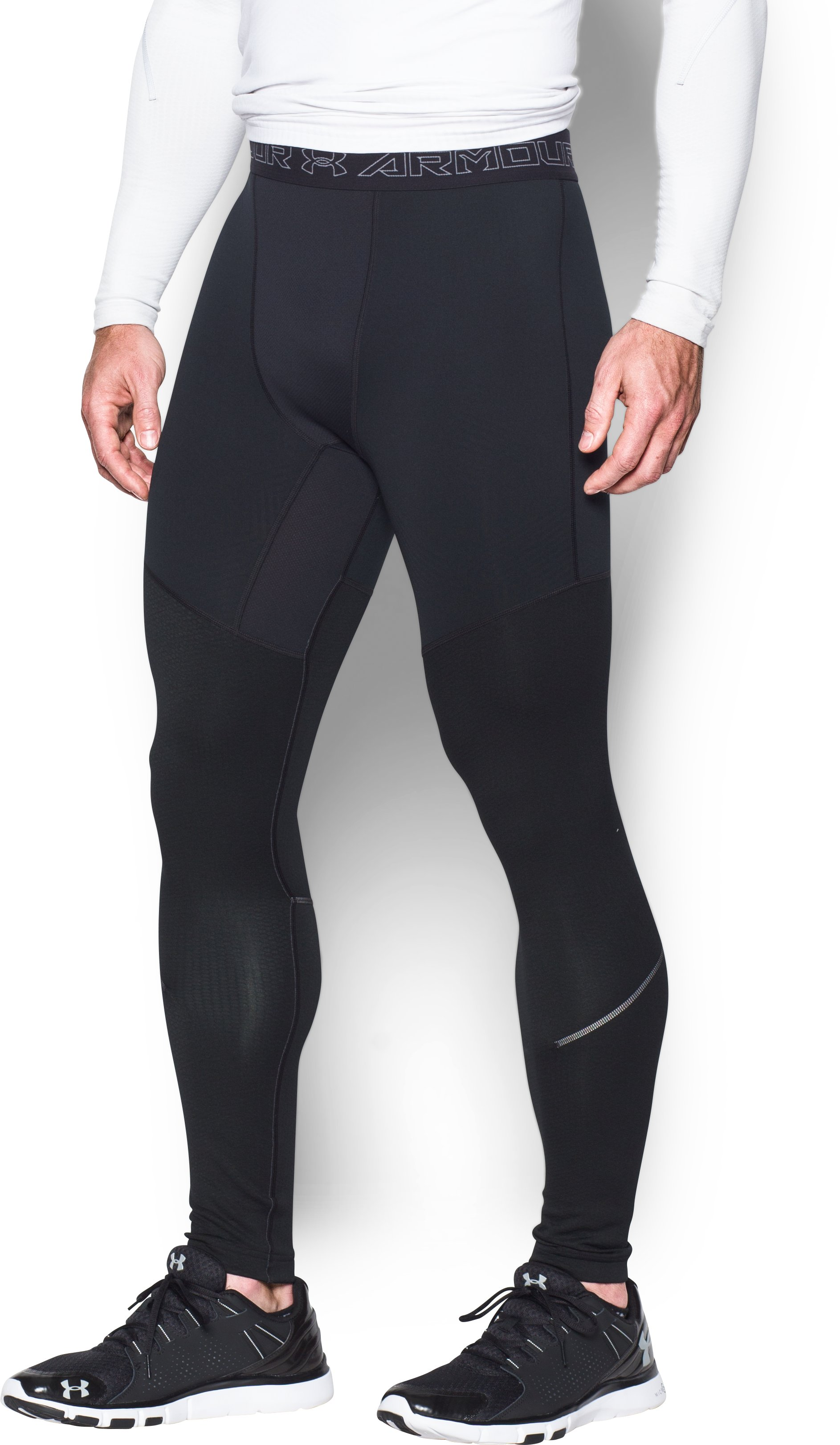 Men's UA ColdGear® Armour Leggings, Black