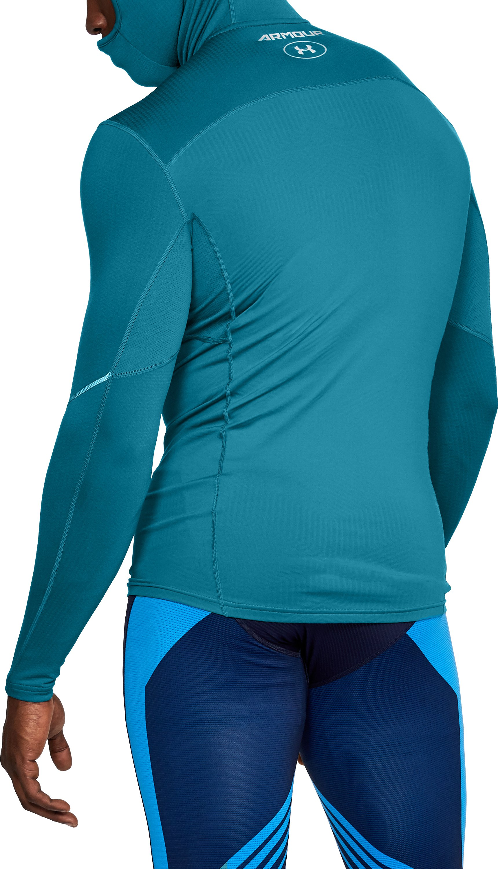 Men's UA ColdGear® Armour Hoodie, BAYOU BLUE,