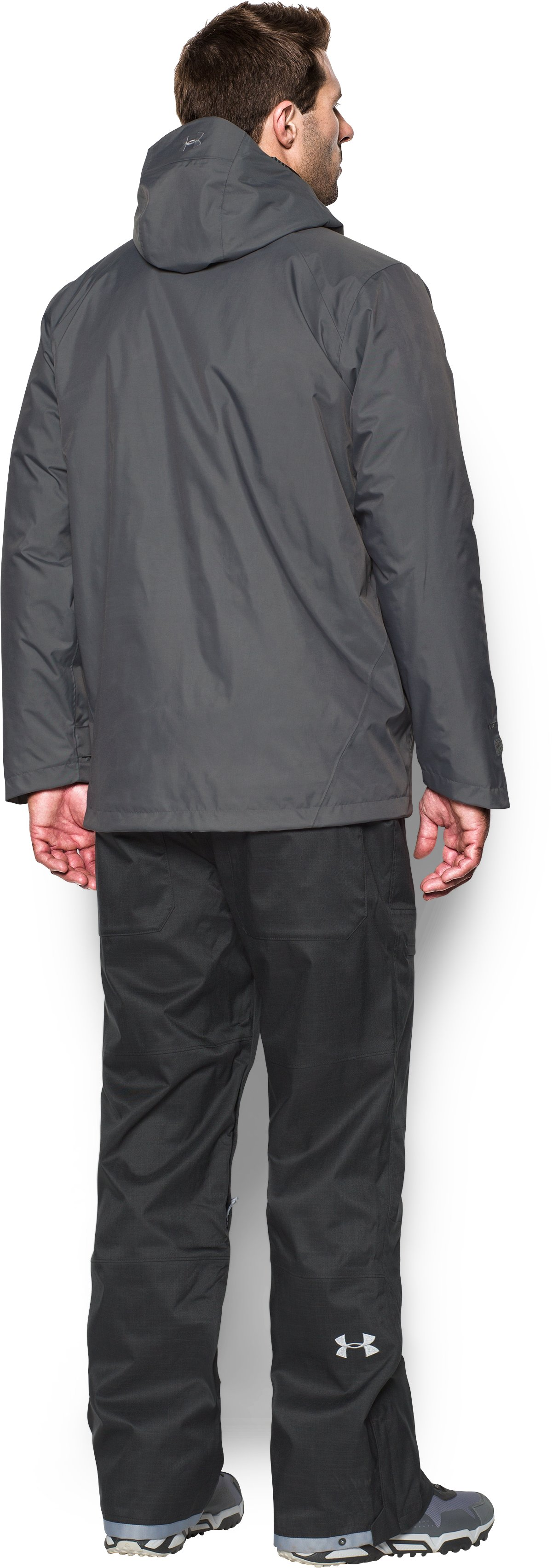 Men's ColdGear® Reactor Wayside 3-in-1 Jacket, Graphite, Back