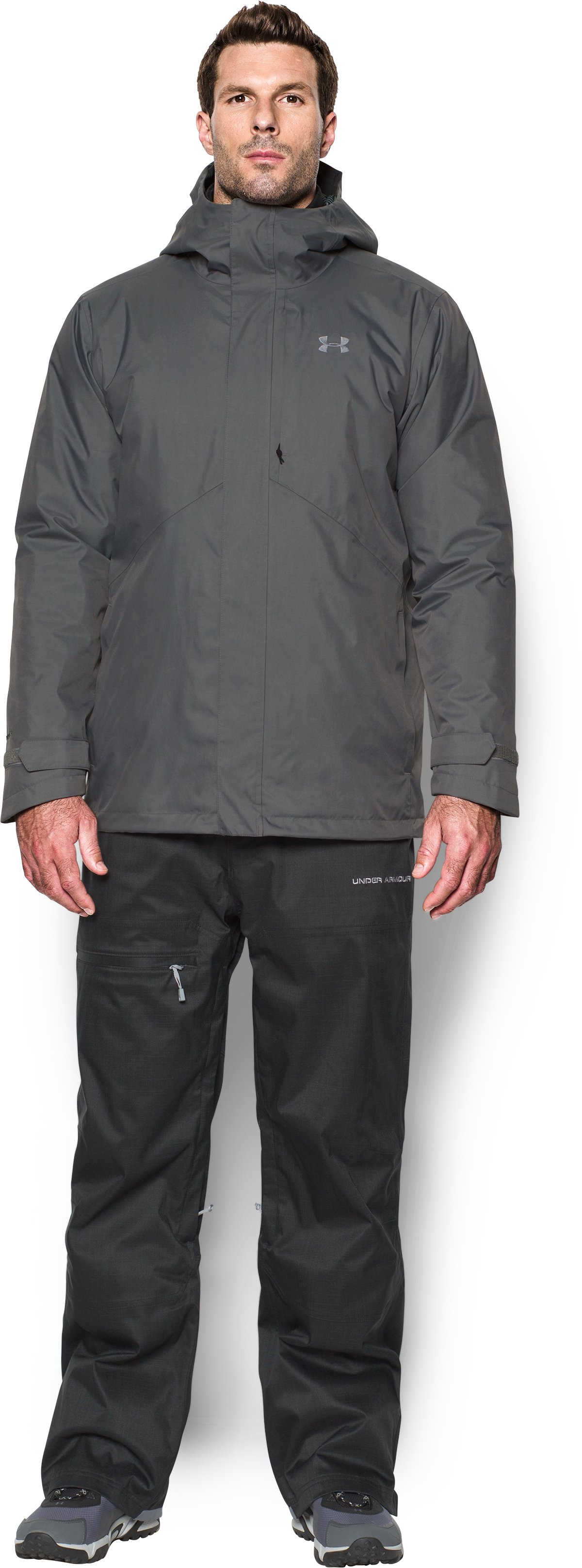 Men's ColdGear® Reactor Wayside 3-in-1 Jacket, Graphite, Front