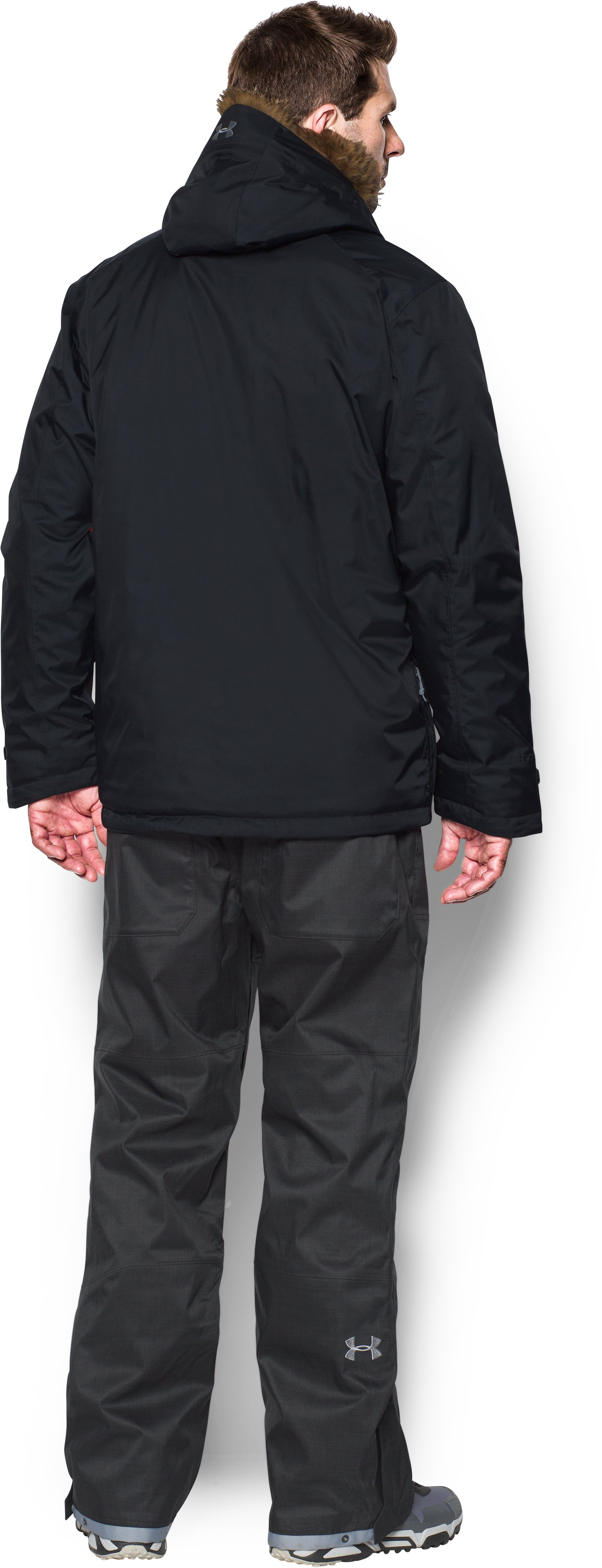 Men's ColdGear® Reactor Voltage Jacket, Black , Back