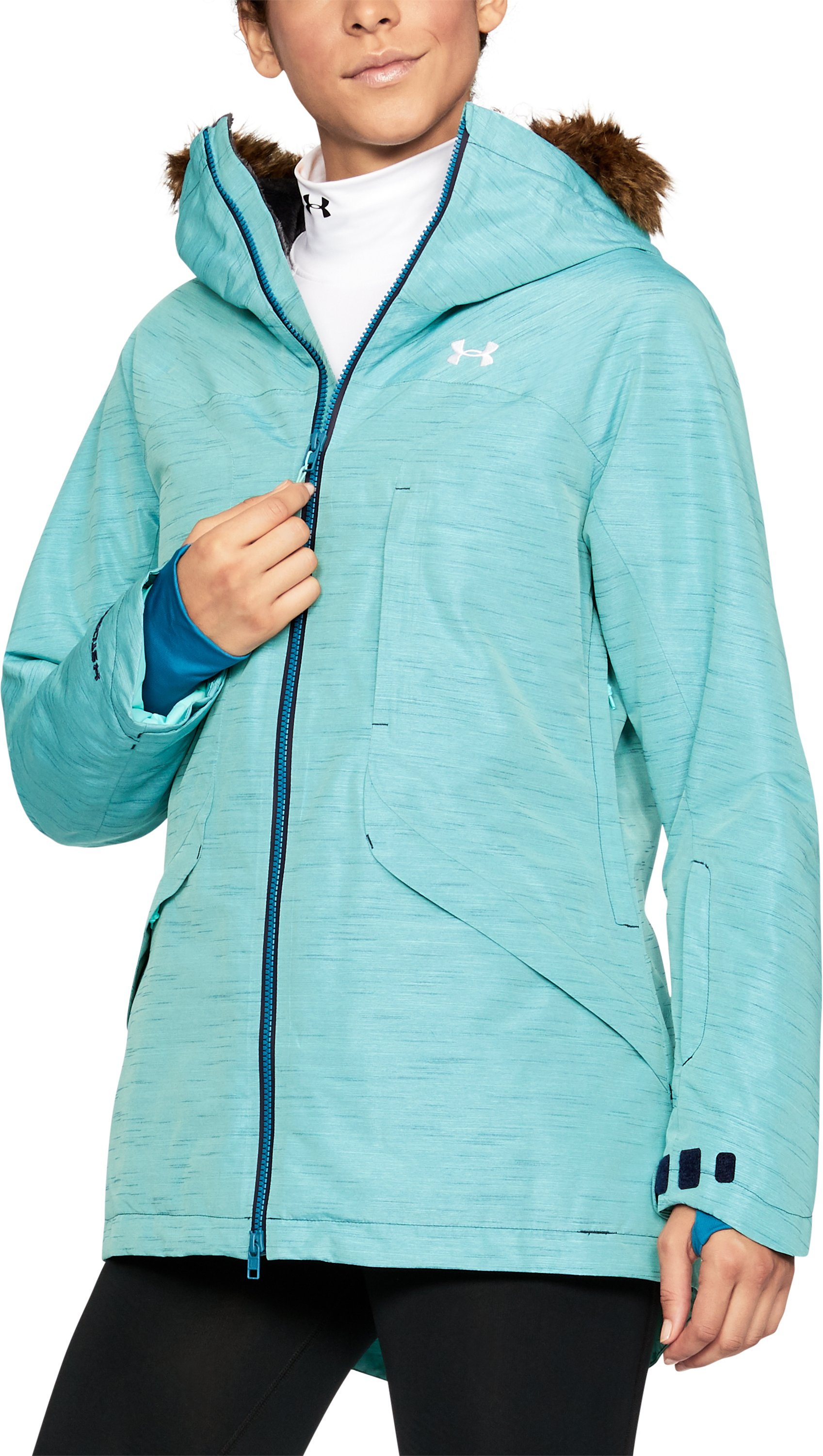 Women's UA ColdGear® Infrared Kymera Jacket, Midnight Navy,