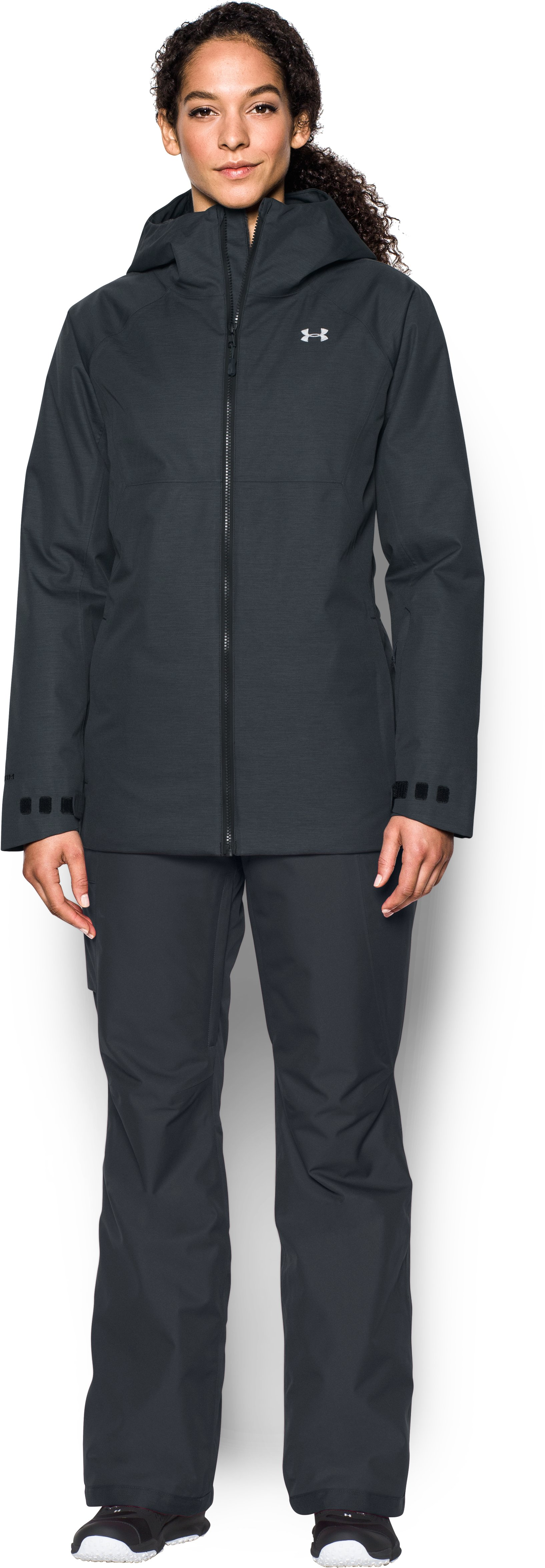 Women's UA ColdGear® Infrared Snowcrest Jacket, Black , Front