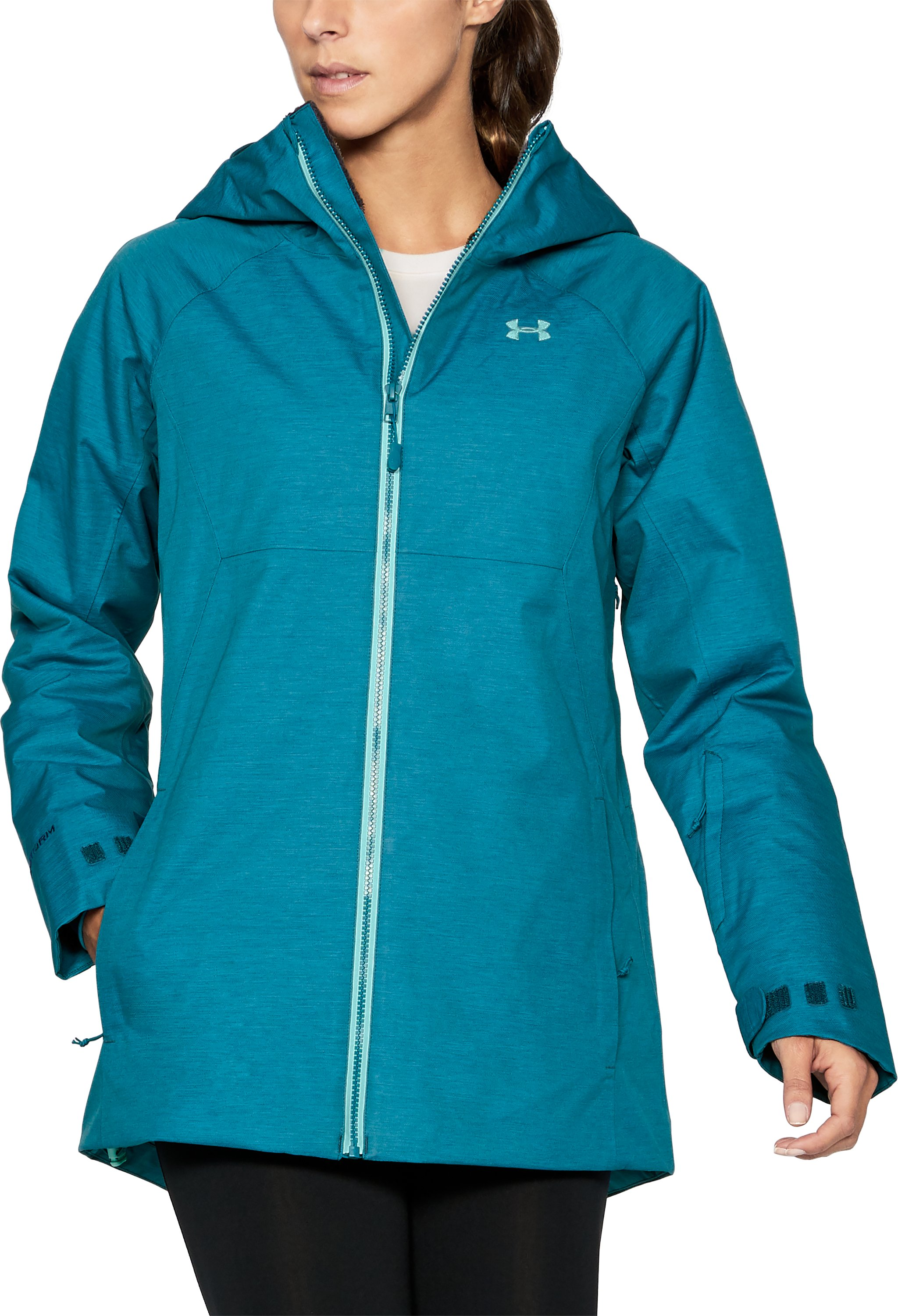 Women's UA ColdGear® Infrared Snowcrest Jacket, TRUE INK