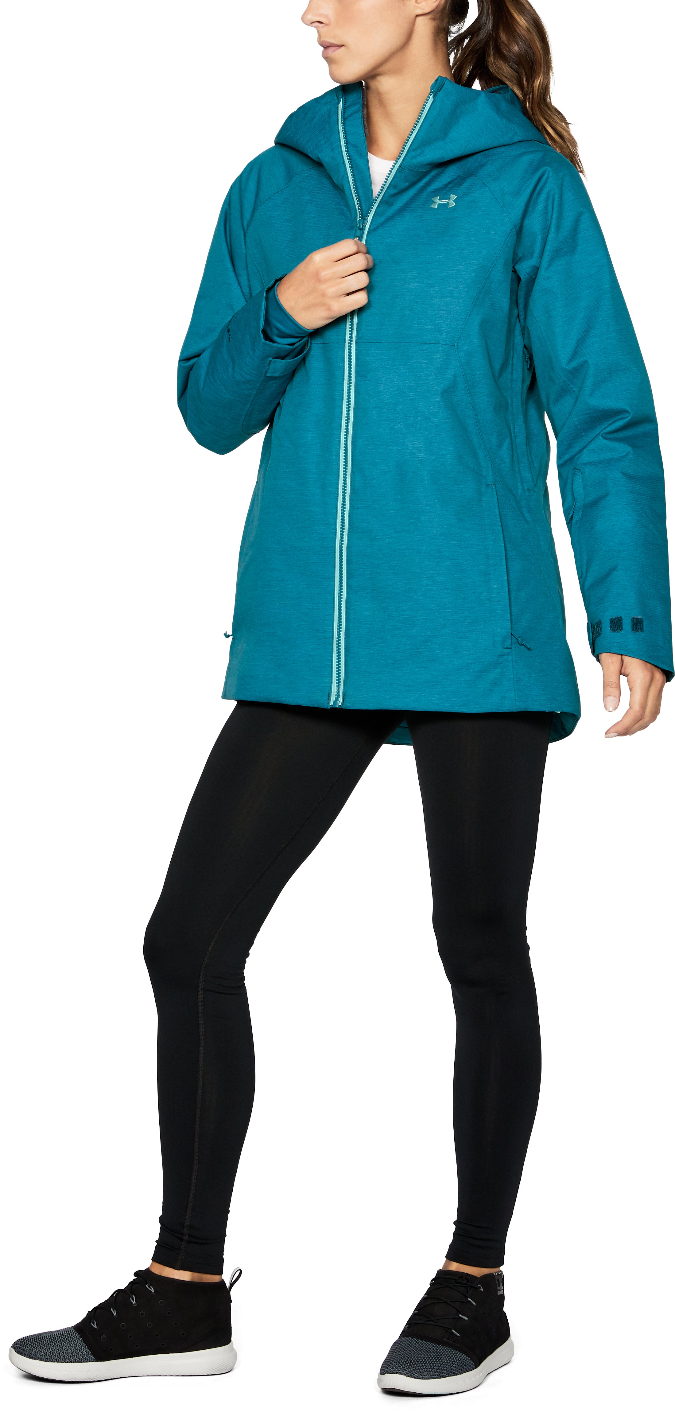 Women's UA ColdGear® Infrared Snowcrest Jacket, TRUE INK,