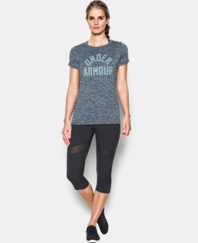 Women's UA Tech™ T-Shirt - Twist Graphic LIMITED TIME OFFER + FREE U.S. SHIPPING 2 Colors $20.99