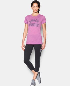 Women's UA Tech™ T-Shirt - Twist Graphic  2 Colors $27.99