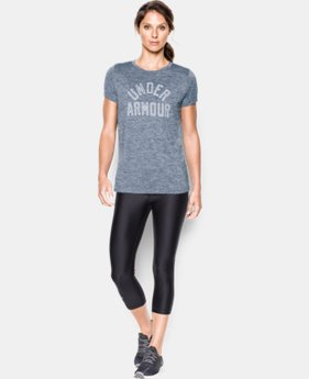 Women's UA Tech™ T-Shirt - Twist Graphic LIMITED TIME: FREE SHIPPING 7 Colors $32.99