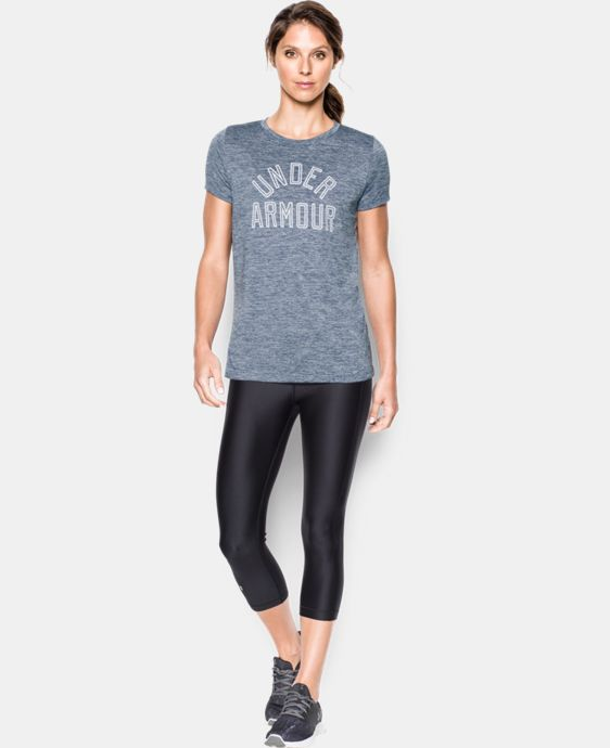 Women's UA Tech™ T-Shirt - Twist Graphic  6 Colors $24.99 to $32.99