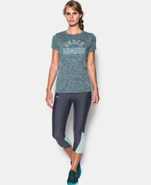 New Arrival  Women's UA Tech™ T-Shirt - Twist Graphic LIMITED TIME: FREE SHIPPING 1 Color $24.99 to $32.99