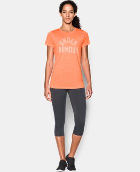 Women's UA Tech™ T-Shirt - Twist Graphic  1  Color Available $32.99