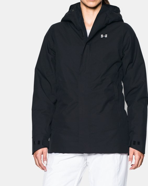Women's ColdGear® Infrared Powerline Insulated Jacket, Black, pdpMainDesktop image number 0